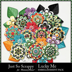 Lucky Me JSS Layered Flowers Pack-$1.99 (Just So Scrappy)