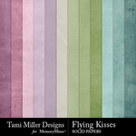 Flying kisses solid papers small