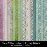 Flying kisses papers small