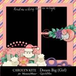 Dream Big CK Girl QM-$2.80 (Carolyn Kite)
