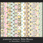 Boho Blooms Paper Pack-$3.99 (Jumpstart Designs)