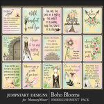 Boho Blooms Quote Cards Pack-$3.99 (Jumpstart Designs)