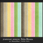 Boho Blooms Basic Paper Pack-$3.99 (Jumpstart Designs)