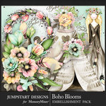 Boho Blooms Embellishment Pack-$4.99 (Jumpstart Designs)