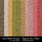Queen for a day glitter sheets small