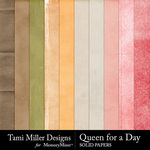 Queen for A Day Solid Paper Pack-$2.99 (Tami Miller)
