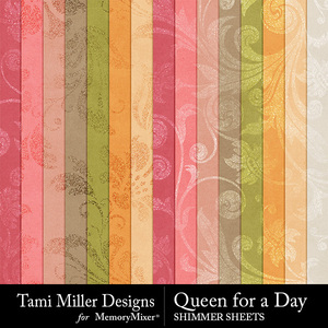 Queen for a day shimmer sheets medium