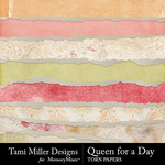 Queen for A Day Torn Paper Pack-$3.99 (Tami Miller)