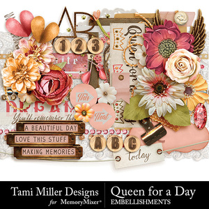 Queen for a day embellishments medium