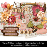 Queen for A Day Embellishments-$3.99 (Tami Miller)
