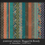 Rugged and Rowdy Pattern Paper Pack-$3.99 (Jumpstart Designs)