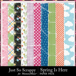 Spring Is Here Worn Paper Pack-$1.99 (Just So Scrappy)