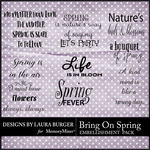 Bring on Spring WordArt Pack-$4.99 (Laura Burger)