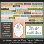 Every Day is a Celebration Snippets Pack-$3.99 (Jumpstart Designs)
