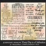Every Day is a Celebration WordArt Pack-$3.99 (Jumpstart Designs)