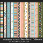 Every Day is a Celebration Paper Pack-$3.99 (Jumpstart Designs)