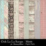 Mom OLL Wood Paper Pack-$1.99 (Ooh La La Scraps)