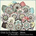 Mom OLL Layered Flowers Pack-$1.40 (Ooh La La Scraps)