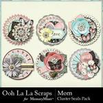 Mom OLL Cluster Seals Pack-$1.99 (Ooh La La Scraps)