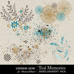 Teal Memories Scatterz Pack-$1.99 (Lindsay Jane)
