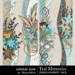 Teal Memories Border Pack-$1.99 (Lindsay Jane)