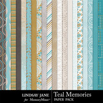 Teal Memories Paper Pack-$2.49 (Lindsay Jane)