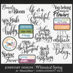 Whimsical Spring JSD WordArt Pack-$3.99 (Jumpstart Designs)