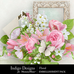 Floral ID Embellishment Pack-$4.99 (Indigo Designs)