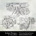 Flowering Spring Stamps Pack-$2.99 (Indigo Designs)