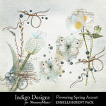 Flowering Spring Accents Pack-$2.99 (Indigo Designs)