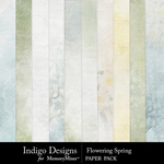 Flowering Spring Paper Pack-$3.49 (Indigo Designs)