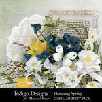 Flowering Spring Embellishment Pack-$3.49 (Indigo Designs)
