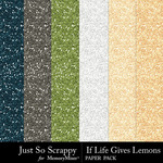 If Life Gives You Lemons Glitter Sheets-$1.99 (Just So Scrappy)