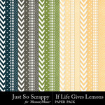 If Life Gives You Lemons Pattern Papers-$1.99 (Just So Scrappy)