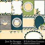 If Life Gives You Lemons Pocket Cards-$1.99 (Just So Scrappy)