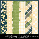 If Life Gives You Lemons Worn and Torn Papers-$1.99 (Just So Scrappy)