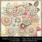 Take Time To Be Kind Layered Flowers Pack-$1.99 (Ooh La La Scraps)