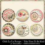 Take Time To Be Kind Cluster Seals Pack-$1.99 (Ooh La La Scraps)