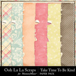 Take Time To Be Kind Worn Paper Pack-$1.99 (Ooh La La Scraps)