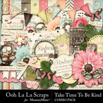 Take Time To Be Kind Combo Pack-$3.49 (Ooh La La Scraps)