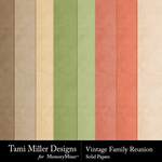 Vintage Family Reunion Solid Papers-$2.99 (Tami Miller)