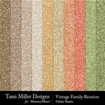 Vintage Family Reunion Glitter Sheets-$2.99 (Tami Miller)
