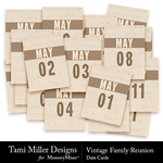 Vintage family reunion cards small