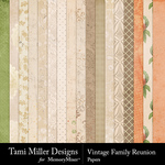 Vintage Family Reunion Papers Pack-$3.99 (Tami Miller)