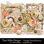 Vintage Family Reunion Embellishments-$3.99 (Tami Miller)