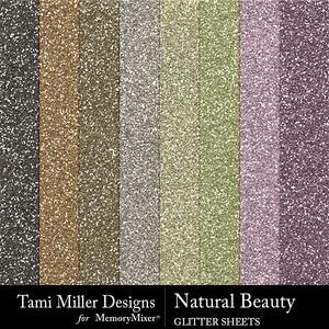 Natural beauty glitter sheets medium