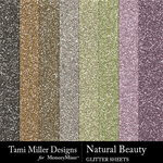 Natural beauty glitter sheets small