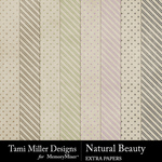 Natural Beauty Extra Papers-$3.99 (Tami Miller)