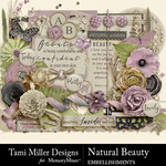 Natural beauty embellishments small