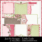 Little lady pocket cards small